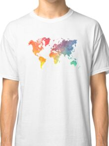 Map of the world colored Classic T-Shirt