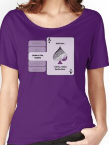 Asexual Character Bonus (Spade Symbol) Women's Relaxed Fit T-Shirt