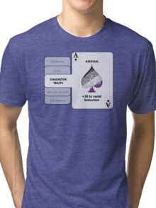 Asexual Character Bonus (Spade Symbol) Tri-blend T-Shirt