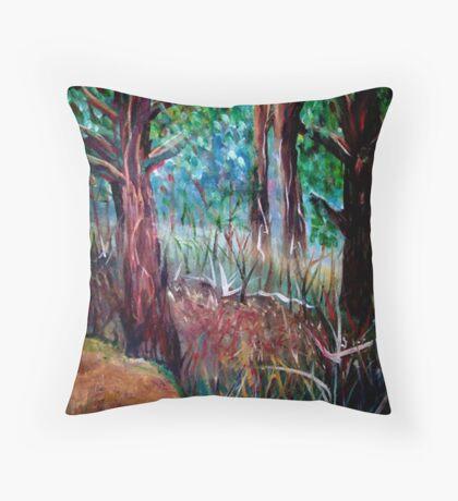 Woodland Scene Throw Pillow