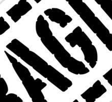 Fragile - Black Lettering, Funny Sticker