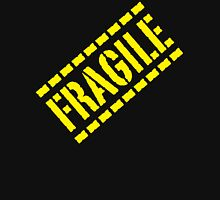 Fragile - Yellow Lettering, Funny Hoodie