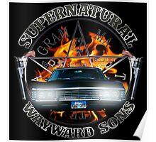 Supernatural Wayward Sons silver Poster
