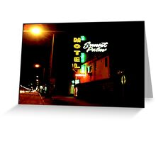 Motel, Sunset Strip, CA Greeting Card