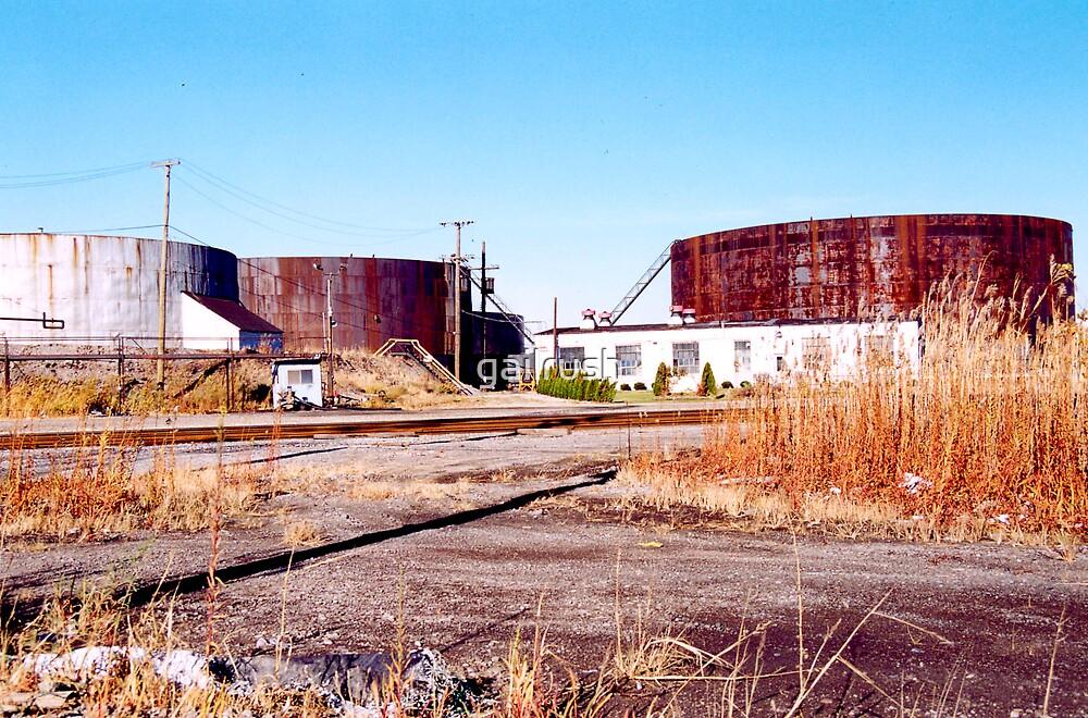 Oil Tanks, Detroit, MI by gailrush