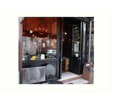 Cafe Regular, Park Slope, NY Art Print