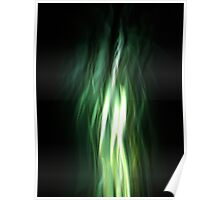Abstract Green Light Poster