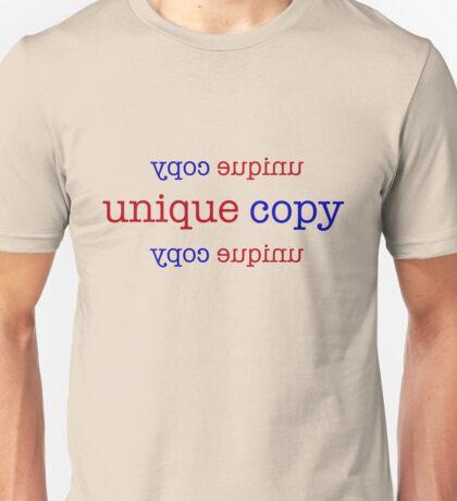 Unique Copy - Red & Blue Lettering, Funny Unisex T-Shirt