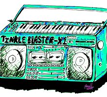 Tinkle Blaster Retro Ghetto Blaster Cassette Player With Built in Keyboard by 1georgiewatts