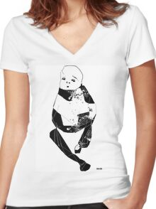 quarterback sneak 740 hike - the tee Women's Fitted V-Neck T-Shirt