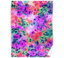 Flourish 2, watercolor floral print Poster