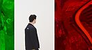 PEOPLE AT AN EXHIBITION - LIFE BETWEEN ABSTRACTIONS by Thomas Barker-Detwiler