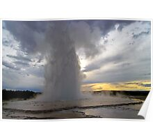 Great Fountain Geyser - Sunset Poster