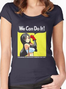 We Can Do It Cloud! Women's Fitted Scoop T-Shirt