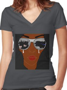 Injustice  Women's Fitted V-Neck T-Shirt
