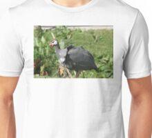 Helmeted Guinea Fowl. Unisex T-Shirt