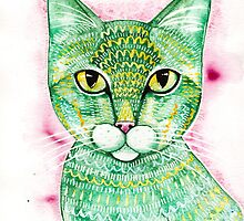 The Green Tabby Cat by Ryan Conners