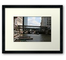 The Downtown Way Framed Print