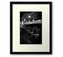 Leaving on the last train... Framed Print