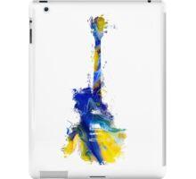 Guitar Yellow Blue iPad Case/Skin