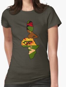 Mother Africa  Womens Fitted T-Shirt