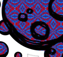 Patterned Hand-drawn bubbles Sticker