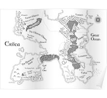 Throne of Glass - Map of Erilea Poster