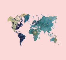 World map wind rose Kids Clothes