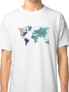 World map wind rose Classic T-Shirt
