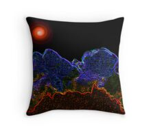 Electric Landscape Throw Pillow