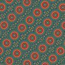 Mandala diagonal orange by RosiLorz