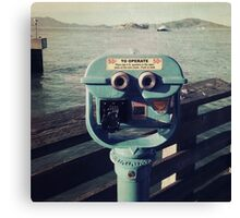 Viewing Alcatraz Canvas Print