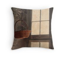 The Basket In The Window Throw Pillow