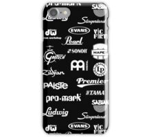 Percussion Logo Collage - White iPhone Case/Skin