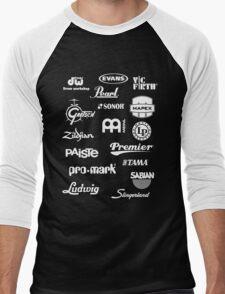 Percussion Logo Collage - White Men's Baseball ¾ T-Shirt
