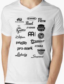 Percussion Logo Collage Mens V-Neck T-Shirt