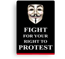 Fight for your Right V for Vendetta Canvas Print