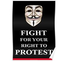 Fight for your Right V for Vendetta Poster