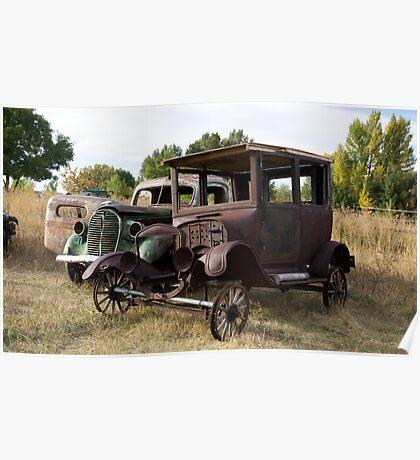 Antique Cars, Rural America Poster