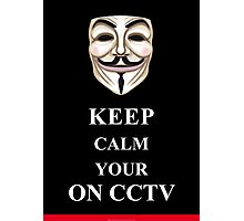 Keep Calm V for Vendetta Photographic Print