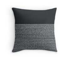 Riverside Black Throw Pillow