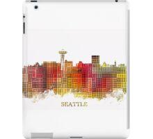 Seattle Washington skyline colored iPad Case/Skin