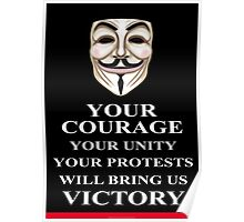 Your Courage Victory V for Vendetta  Poster