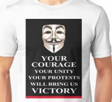 Your Courage Victory V for Vendetta  Unisex T-Shirt