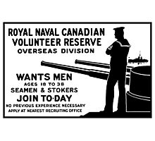 Royal Naval Canadian Volunteer Reserve Photographic Print