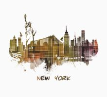 New York City skyline green cube Baby Tee