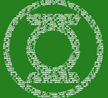 Green Lantern Oath (White) by DarkBlueOwl