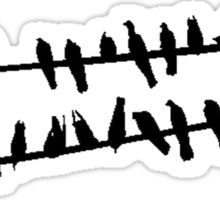 Birds On a Wire Sticker