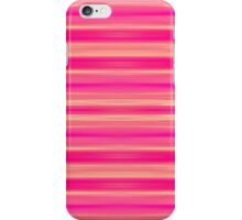 Coral and Pink Brush Stroke Painted Stripes iPhone Case/Skin