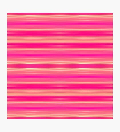 Coral and Pink Brush Stroke Painted Stripes Photographic Print